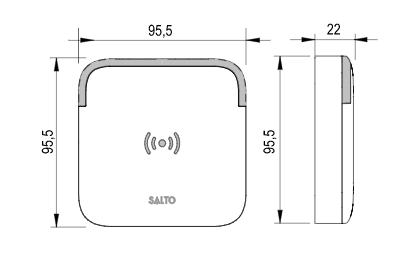 Technische tekening Salto XS4 2.0 wandlezer