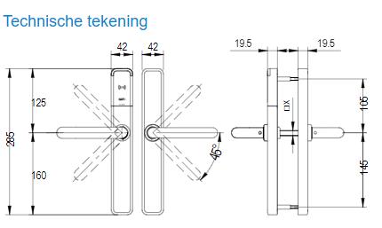 Technische tekening Salto XS4